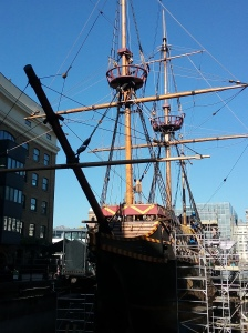 The Golden Hinde ship used to circumnavigate the globe