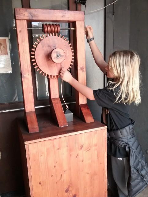 Interactives at the Da Vinci exhibit in Venice, Italy