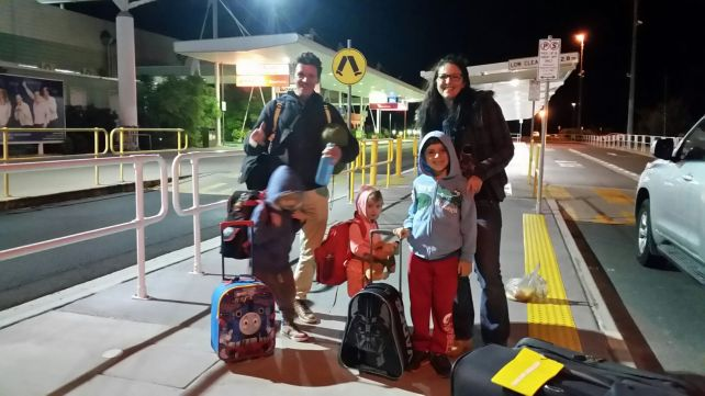 airport travel with kids and carry on luggage