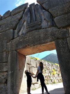 sightseeing - mycenae archeological area in greece