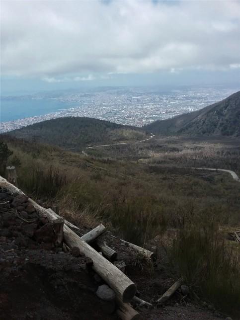 Road to Vesuvius crater.