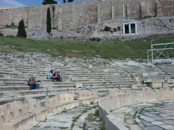 sightseeing - archeological sights - theater in athens, greece<br />