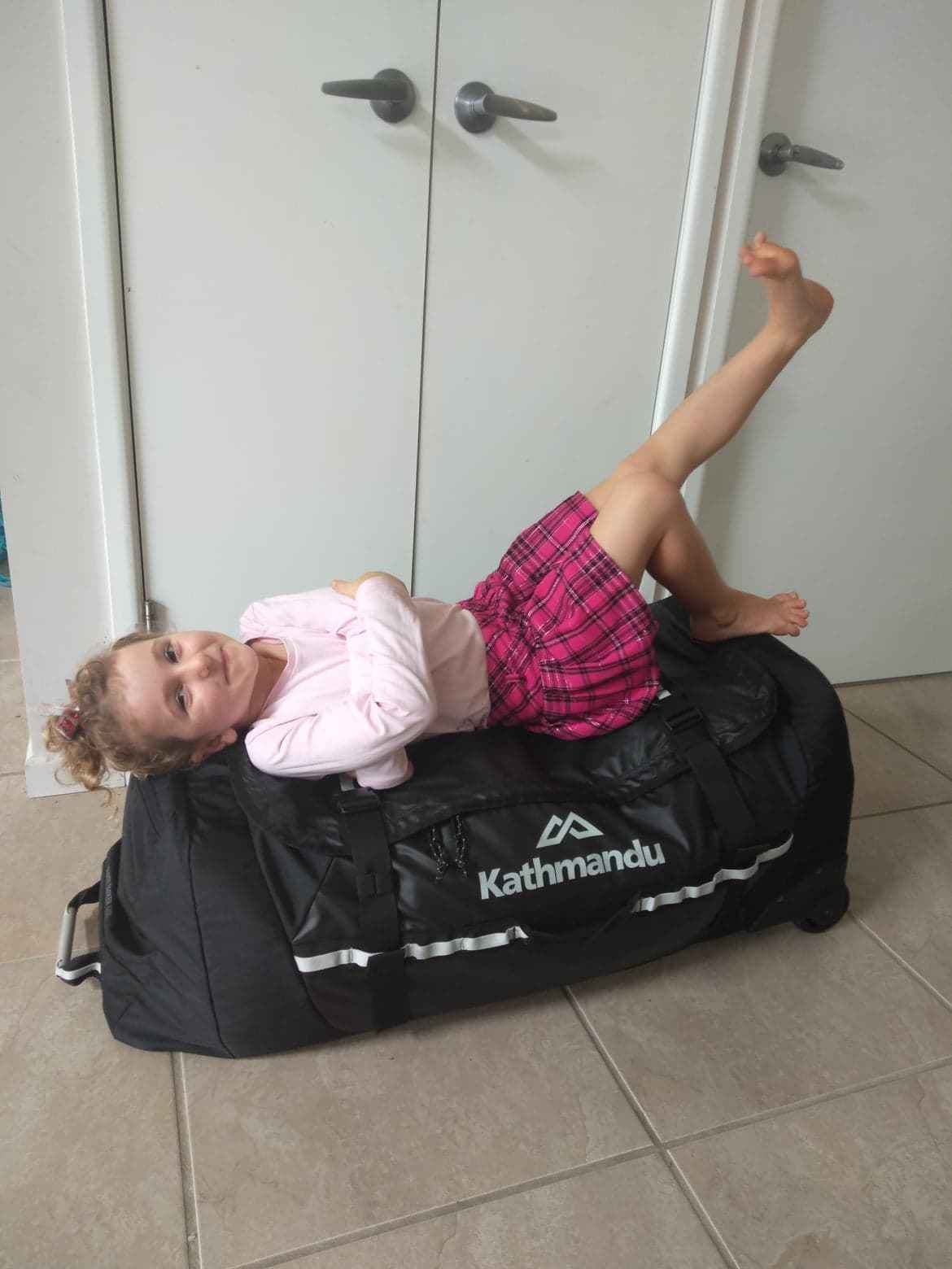 Family travel duffel bag