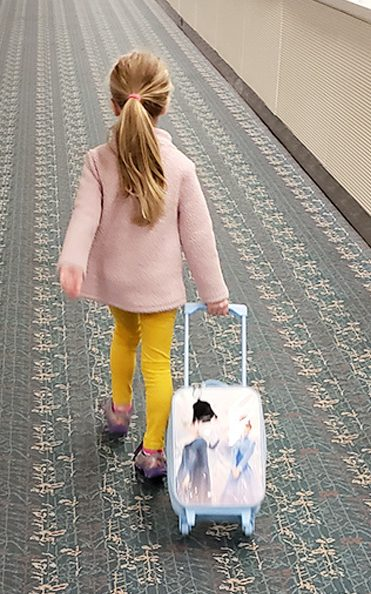 kids love to pull their own luggage
