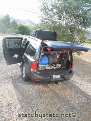 packing the minivan